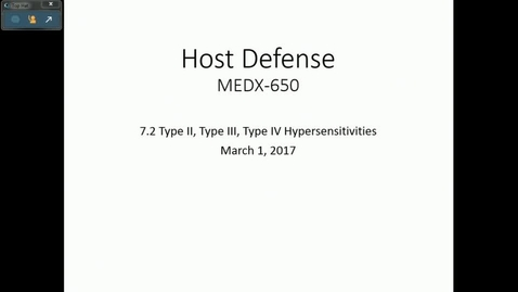Thumbnail for entry IN HD 3/1/2017: Type II, Type III, Type IV Hypersensitivities
