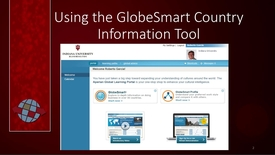 Thumbnail for entry CIBER Pedagogy: Using the GlobeSmart Country Information Tool