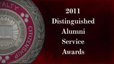 Thumbnail for entry Distinguished Alumni Service Awards