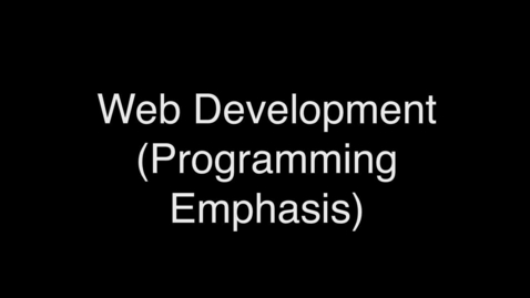 Thumbnail for entry web developement_programming emphasis