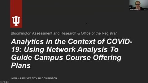 Thumbnail for entry Learning Analytics in the Context of COVID-19  A Case Study of Using Network Analysis to Guide Campus Course Offering Plans
