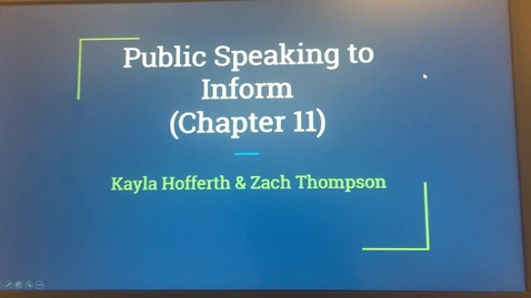 Thumbnail for entry Chapter 11 presentation: Kayla Hofferth and Zach Thompson