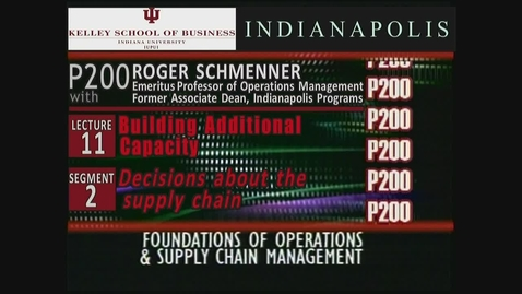 Thumbnail for entry P200_Lecture 11_Segment 2: Decisions About the Supply Chain