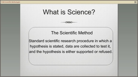 Thumbnail for entry P Scientific Method A200 Scientific Method