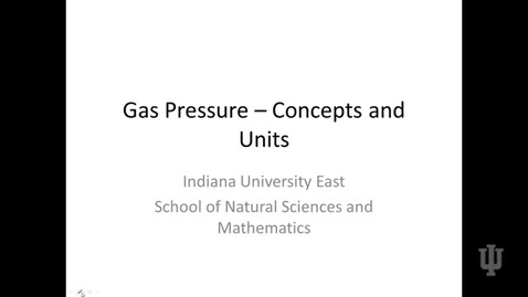 Thumbnail for entry Gas Pressure - Overview
