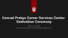 Thumbnail for entry Conrad Prebys Career Services Center Dedication Ceremony