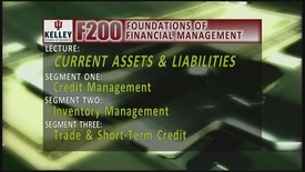 Thumbnail for entry F200_Lecture 13_Segment 1: Credit Management