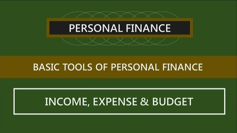 Thumbnail for entry F152 02-2 Income, Expenses & Budgets