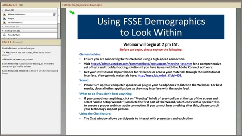 Thumbnail for entry Using FSSE Demographic Data to Look Within Your Institution