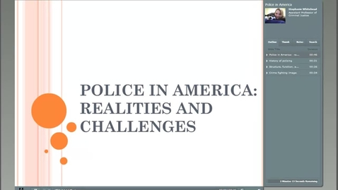 Thumbnail for entry SW - Police in America Mod 5