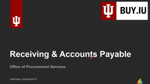Thumbnail for entry Receiving & Accounts Payable
