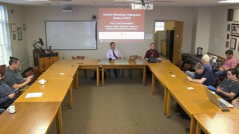 """Thumbnail for entry 10/23/17 Colloquium Series - Scott Shackelford: """"Cyber War and Peace: Governing New Frontiers in the Information Age"""""""