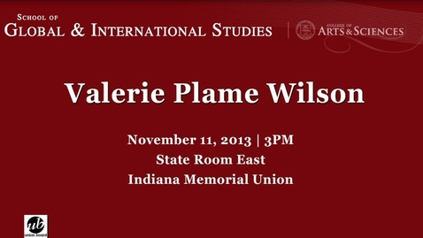 Thumbnail for entry Global Perspectives Series: Valerie Plame Wilson