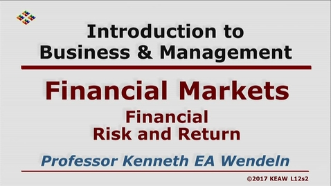 Thumbnail for entry W200 12-2 Financial Risk and Return
