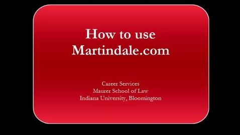 Thumbnail for entry Using Martindale.com
