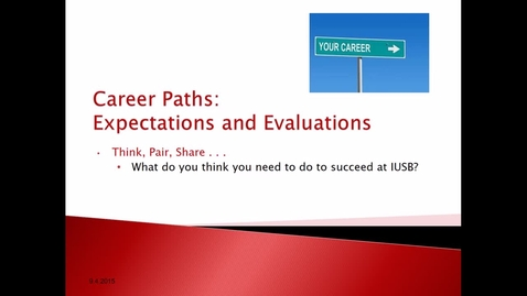 Thumbnail for entry Career Paths: Expectations and Evaluations