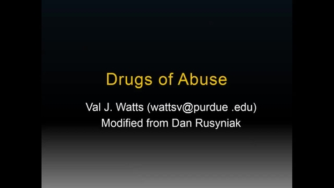 Thumbnail for entry WL - NB - 170508 - Watts - Substance Abuse