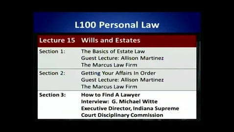 Thumbnail for entry L100 15-3 How to Find a Lawyer