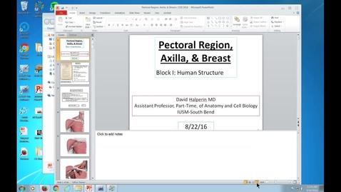 Thumbnail for entry Pectoral Region, Axilla, & Breast - 2016 Aug 26 01:00:43