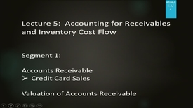 Thumbnail for entry A186 05-1 Accounting for Receivables & Inventory Cost Flow