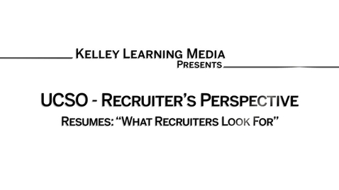 Thumbnail for entry What Recruiters Look For