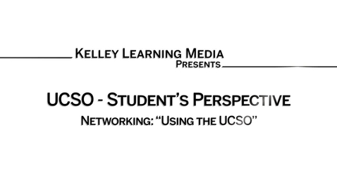 Thumbnail for entry Networking & the UCSO