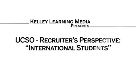 Thumbnail for entry Recruiter perspective