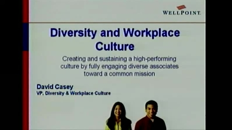 Thumbnail for entry Z340 David Casey - Diversity and Workplace Culture