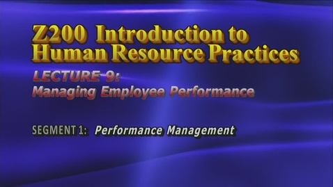 Thumbnail for entry Z200 09-1 Performance Management