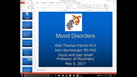 Thumbnail for entry Evv-N&B-Mood Disorders - Dr. Thomas-Fannin - 2017 May 03 02:55:32