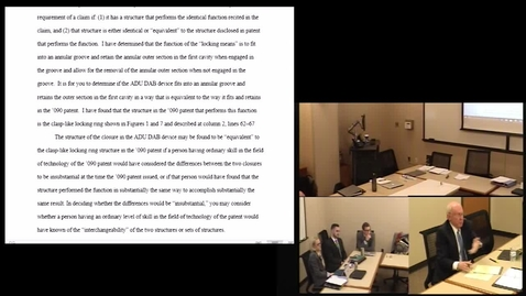 Thumbnail for entry 2018.04.09.1630 - 13360 B785 Patent Trial Practice - Hearings Motions Mediation.mp4