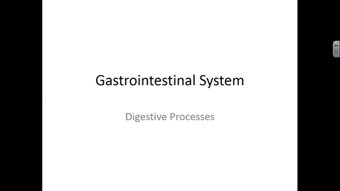 Thumbnail for entry TH MCT 10/17/2016: Gastrointestinal System, Digestive Processes