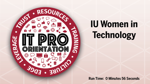Thumbnail for entry IUWIT - IU Women in Technology