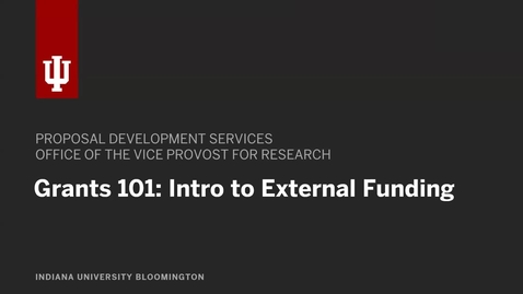 Thumbnail for entry Grants 101: An Intro to Grantsmanship