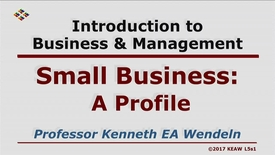 Thumbnail for entry X100_Lecture 05-Segment 1_Profile of Small Business