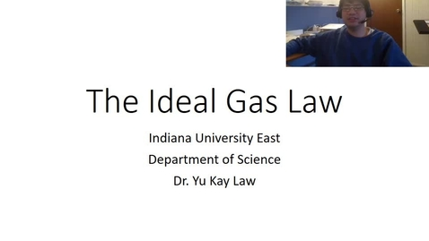 Thumbnail for entry Ideal Gas Law