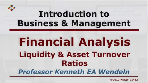Thumbnail for entry W200 14-2 Liquidity & Asset Turnover Ratios