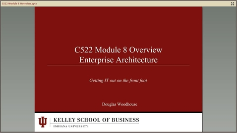 Thumbnail for entry dwoodhou MP4s_C522 Woodhouse_C522 Woodhouse Module 8 Enterprise Architecture overview