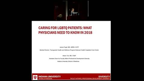 "Thumbnail for entry Pediatric Grand Rounds - 06-27-18 - ""Caring for LGBTQ Paitents: What Physicians Need to Know in 2018"" Janine Fogel MD and Alvaro Tori MD"