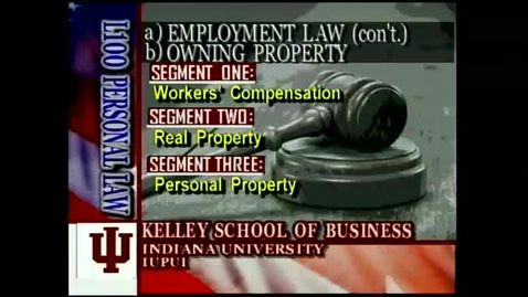 Thumbnail for entry L100 11-1 Workers' Compensation