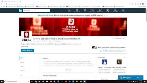 Thumbnail for entry Using LinkedIn Effectively