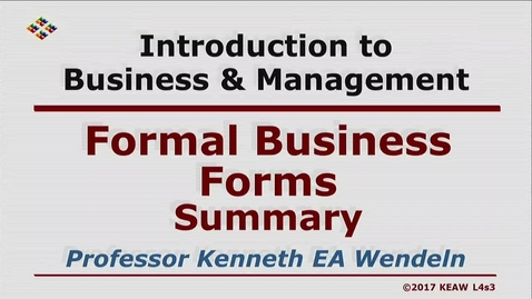 Thumbnail for entry W200 04-3 Formal Business Forms Summary