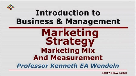 Thumbnail for entry W200 20-3 Marketing Mix And Measurement