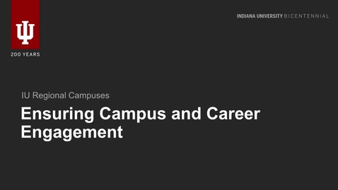 Thumbnail for entry Campus & Career Engagement