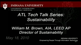 Thumbnail for entry ATL Tech Talk Series:  Sustainability