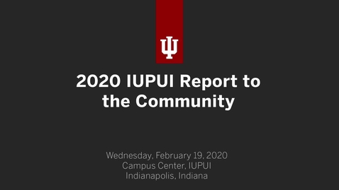 Thumbnail for entry 2020 IUPUI Report to the Community