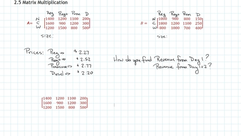 Thumbnail for entry Matrix Multiplication:  Introduction