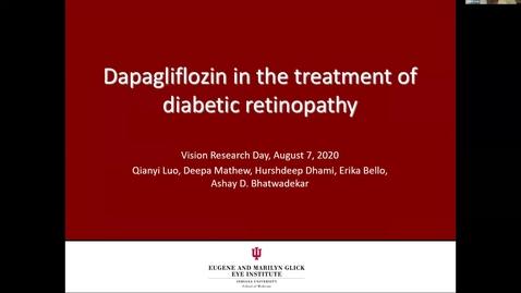 Thumbnail for entry Dapagliflozin in the treatment of diametic retinopathy