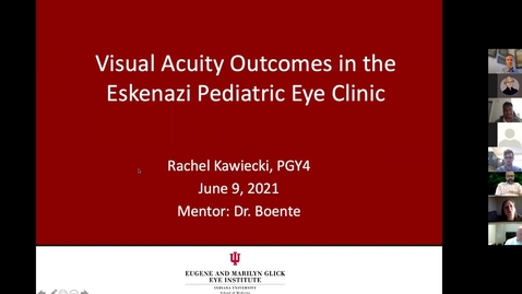 Thumbnail for entry Visual acuity outcomes in Eskenazi pediatric eye clinic