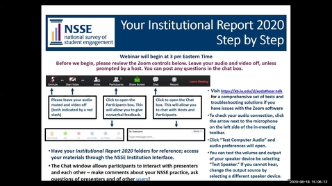 Thumbnail for entry Your Institutional Report 2020: Step by Step Guide